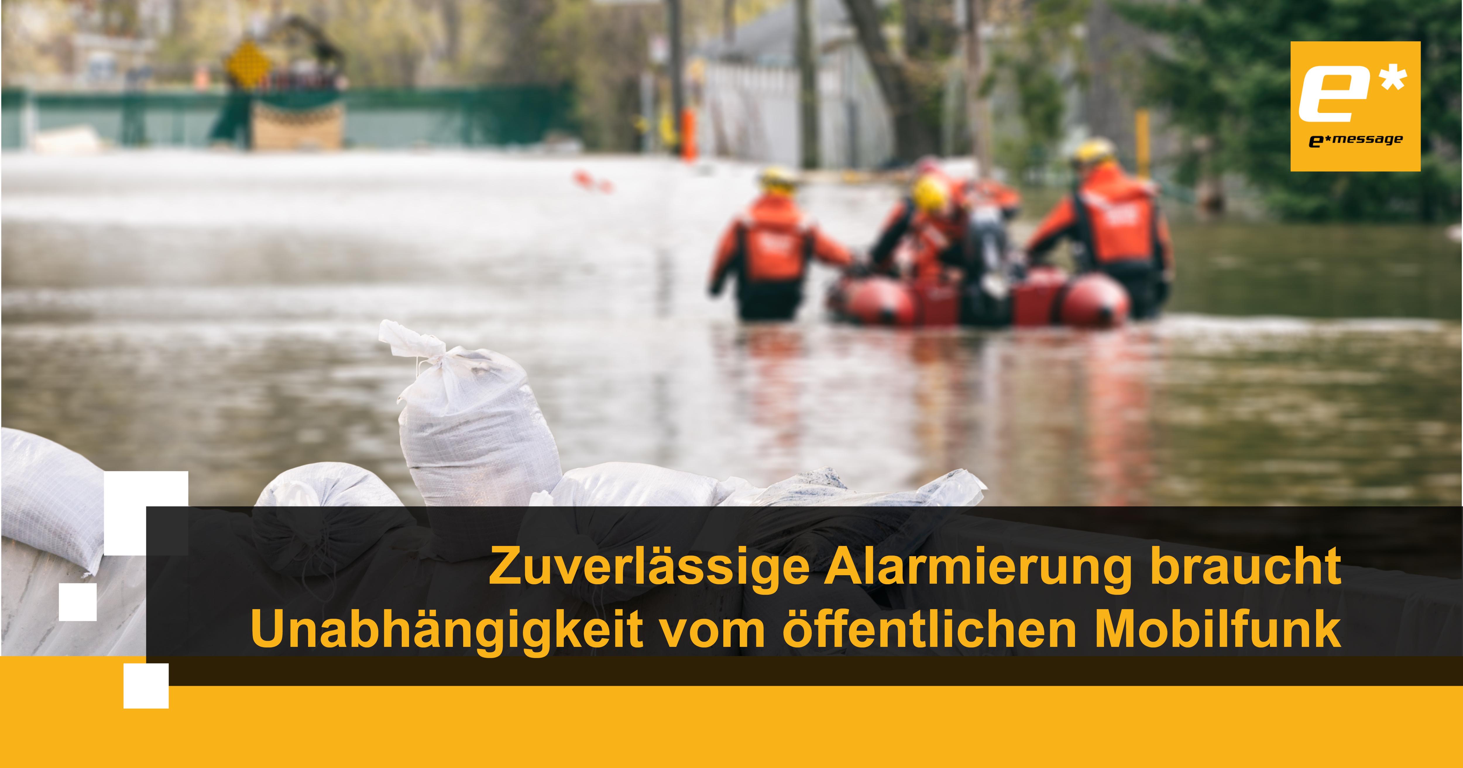 Sicherheitsfunknetz leistet einen wichtigen Beitrag zum Katastrophenschutz